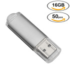 50 Pack 16G/8G/4G/2G/1G USB2.0 Flash Drive Thumb Pen Drive Memory Stick U Disk