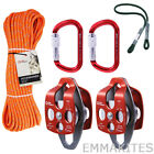 Pulley System Kit Set Rope Pursik Pulley Carabiner For Climbing Arborist Rigging