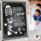 New Father Gift For Father's Day Birthday Baby Shower  Follow Footsteps Love