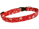 SPIFFY POOCHES Dog Red Collar Christmas Snowflakes ** BUY 1 GET 1 50% OFF **
