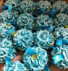 New Rose Kissing Balls Cake Toppers Bouquet Artificial Decor Silk Flowers