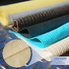 Beige 6'-8' Tall Fabric Roll Shade Cloth Fence Outdoor Windscreen Privacy Mesh