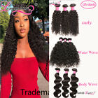 3Bundles Malaysian Curly Water Wave Body Wave Human Hair Soft Wavy Extensions 8A