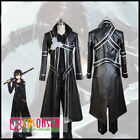 black friday online specials - Cosonsen Black Friday Sword Art Online Kirito Cosplay Costume Black Leather Suit