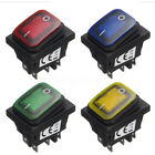 2x12V 16A 6 Pin ON/OFF LED Light Rocker Toggle Switch Waterproof SPST Car Boat