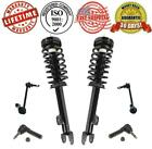 New 6pc Set Complete Front Quick Struts + Sway Bar & Outer Tie Rod Links for RWD