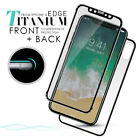 For iPhone X 3D Front+Back Curved Titanium Tempered Glass Film Screen Protector