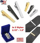 3 Pcs 3-Color Tie Bar Pinch Clap Clip Pin Set for Regular Ties Gold Silver Black