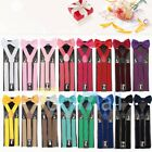 Внешний вид - Suspender and Bow Tie Set for Adults Men Women Teens (USA Seller)
