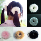 Fluffy Faux Rabbit Fur Furry Hair Band Elastic Bobble Pony Scrunchie Accessories
