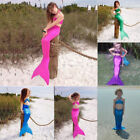 Kid Girl Mermaid Tail Bikini Swimmable Swimsuit Swimming Costume Set Fancy Dress