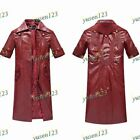 DMC Devil May Cry 4 Dante Cosplay Costume Red Long Coat Jacket Trench Coat Unise