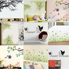 Lot Branch Dandelion Owl Removable Wall Stickers Bird Tree Room DIY Decor #UK