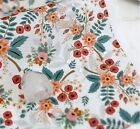 Rose white Lightweight WATERPROOF FABRIC BY THE YARD Roses floral flowers LW216*