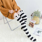 Winter Warm Striped Knee Thigh High Thick Stockings Cute Cartoon Animal Socks A+