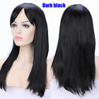 """23"""" 32"""" Anime Cosplay Wigs Long Hair Straight Full Wig Heat Resistant With Bangs"""