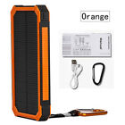 Waterpoof 300000mAh Dual USB Battery Portable Solar Power Bank Solar Charger