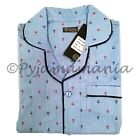 Pyjamas Mens 100% Cotton Short PJs Set Blue Anchors Sz S M L XL XXL