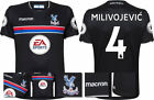 17 / 18  MACRON CRYSTAL PALACE AWAY SHIRT SS + PATCHES / MILIVOJEVIC 4 = KIDS