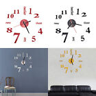 Modern Art DIY Large Wall Clock 3D Sticker Design Home Office Room Decor o;
