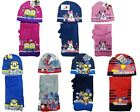 SPIDERMAN IRONMAN PAW PATROL MINNIE MOUSE WINTER KNITTED SCARF, HAT & GLOVE SET