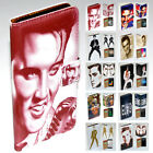 For iPhone X 8 8 Plus - Elvis Presley Print Flip Wallet Phone Case Cover