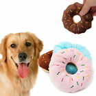 Cute Pet Dog Puppy Cat Tugging Squeaker Quack Sound Toy Chew Donut Play Toys POP