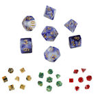 7pcs Set Multi-faceted Acrylic 20-Sided Dice Game Props Board Game Tool FGR