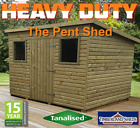 HEAVY DUTY Pent Tanalised garden Shed Fully T&G Tanalised Top Quality