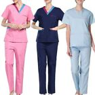 Latest Women's Scrub Set Hospital Doctor Nurse V-Neck Tops Pants Working Clothes
