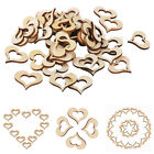 Внешний вид - 100pcs Wooden Hollow Heart Wedding Decoration Computer Laser Cut DIY Scrapbook