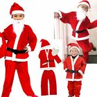 Kids Santa Claus Clothes Father Christmas Suit Fancy Dress Outfit Costume 3Y-13Y