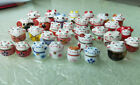 Mini Maneki Neko Lucky Cat Porcelain Ceramic Figure Charm DIY Accessories