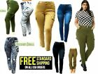 NEW Women's Plus Size Drawstring Relaxed Fit High-Waist Full Length Cargo Pants