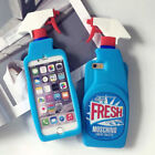 Hot Funny Cute 3D Fresh Spray Cleaner Bottle Soft Silicone Phone Case Back Cover