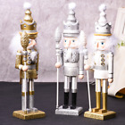 46CM Large Xmas Christmas Nutcracker Soldier Wooden Guard Toys Home Decors Gift