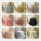 "48"" Round Sparkly Sequin Table Cloth Wedding Festival Party Decor Dessert Table"