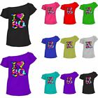 Ladies I Love The 80s T-Shirt 80's Outfit  Fancy Dress up Party Top Lot 6014792®