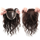 Fluffy Wave 100% Human Hair Topper Clip in hairpiece Cover Loss Hair Replacement