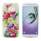 Galaxy S7 and S7 Edge Crystal Clear Soft Design Case (Blooming Flower)