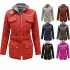 CLEARANCE NEW LADIES WOMENS QUILTED BELTED PADDED ZIP JACKET COAT TOP SIZES 8-14