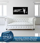 JAMES BOND 007 MOVIE DECAL DECOR STICKER WALL ART VARIOUS COLOURS $40.09 AUD