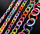Bulk Mixed Color Acrylic Round Oval Open Chain Link Ring Connector Bead  DIY