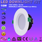 12X 16W LED DOWNLIGHTS KIT DIMMIABLE  IP44 WARM/COOL WHITE SAMSUNG LEDS RCM IP44