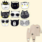 9pcs/Set Cute Cat Iron-on Heat Transfers Patches DIY T-shirt
