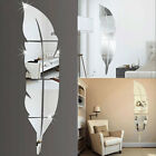 HOT 3D Feather Depict Wall Sticker Room Decal Mural Art DIY Home Decoration US