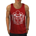 Western Cowboy Skull Guns Men Tank Top S-2xl New | Wellcoda