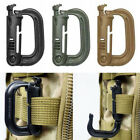 Tactical MOLLE D-Ring Locking Buckle Plastic Muiti-funtion Carabiner Belt Clip