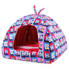 Foldable Dog House Bed With Mat Tent Kennel Summer Dual Use Animal Bed Supplies