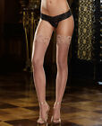 New Dreamgirl 0005 Nude Thigh High Stockings With Stay Up Silicone Top